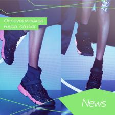 Os novos sneakers Fusion, da Dior