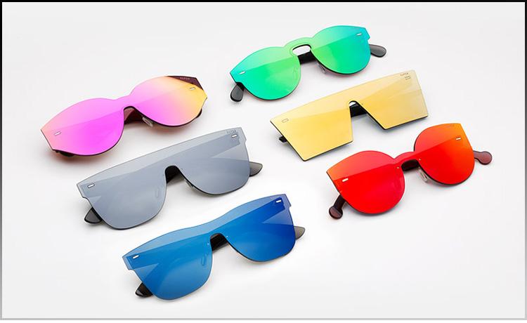69916bdff A parceria entre Dior e a cantora Rihanna rendeu uma limited edition com  lentes espelhadas 100% proteção UV nas cores azul, rosa, vermelho e prata.