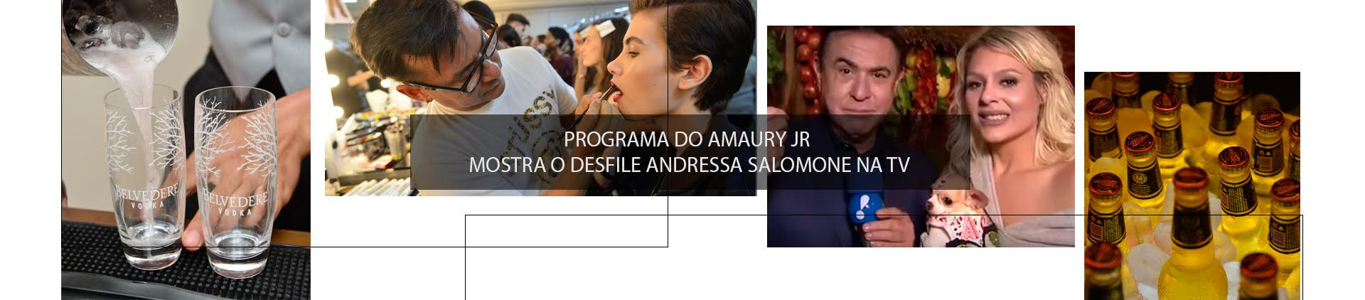 PROGRAMA DO AMAURY JR MOSTRA DESFILE ANDRESSA SALOMONE NA TV