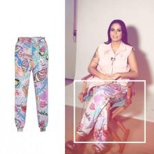 Celebrity Style: Alinne Rosa usa calça estampada Andressa Salomone