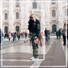 Look do 5º dia em Milão: Mood Militar