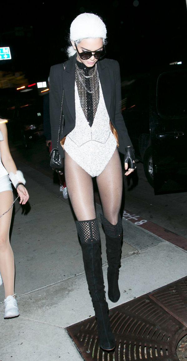 Kendall Jenner como Karl Lagerfeld